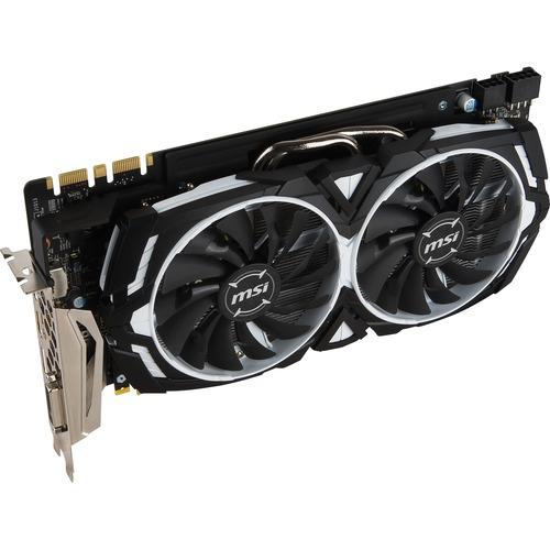 MSI GTX 1080 ARMOR 8G OC GeForce GTX 1080 Graphic Card | 1.66 GHz Core | 1.80 GHz Boost Clock | 8 GB GDDR5X | PCI Express 3.0 x16