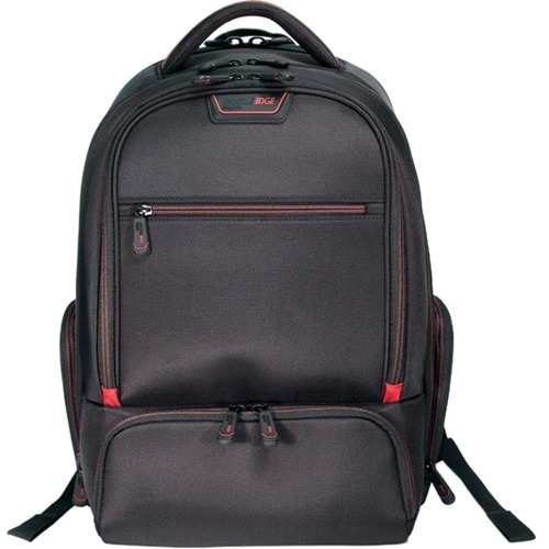 16IN PRO BACKPACK BLK W/ RED TRIM