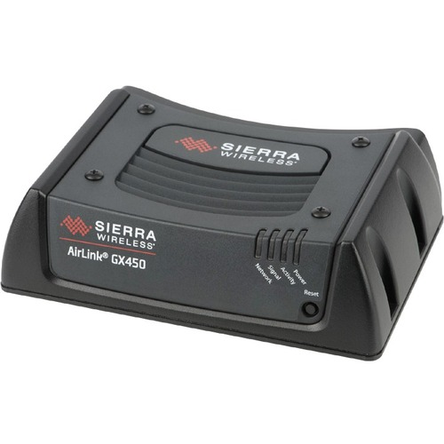 Sierra Wireless AirLink GX450 Rugged, Mobile 4G XLTE Gateway with Ethernet/Serial/USB/GPS + Multi-Ethernet - LTE Bands 2,4,13 - EVDO - Verizon - Includes DC Power Cable - 3 Year Warranty