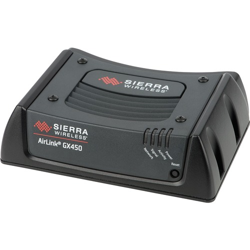 Sierra Wireless AirLink GX450 Rugged, Mobile 4G Gateway with Ethernet/Serial/USB/GPS + Multi-Ethernet - LTE Bands 2,4,5,17 - HSPA+ - AT&T - Includes DC Power Cable - 3 Year Warranty