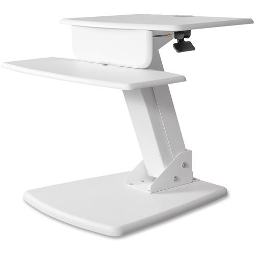 "Kantek Desktop Sit-to-Stand Computer Workstation - 25 lb Load Capacity - 22"" Height x 26.8"" Width x 23.5"" Depth - Desktop - White"