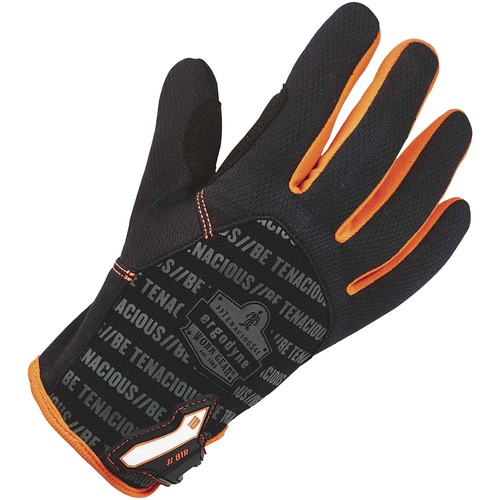 ProFlex 812 Standard Utility Gloves - 11 Size Number - XXL Size - Synthetic Leather Palm, Poly - Black, Gray - Reinforced Saddle, Hook & Loop Closure, Pull-on Tab, Comfortable, Breathable, Flexible, Durable, Reinforced Thumb - For Warehouse, Assembling, M