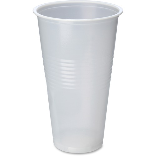 Genuine Joe Translucent Beverage Cup - 591.47 mL - 600 / Carton - Translucent, Clear - Beverage