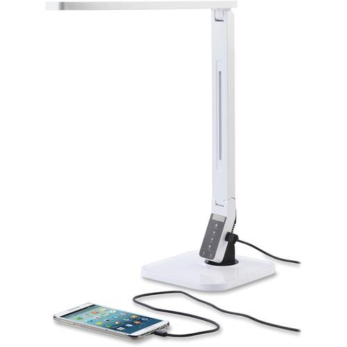 Lorell Smart LED Desk Lamp - LED - White - Desk Mountable - for Desk, Table