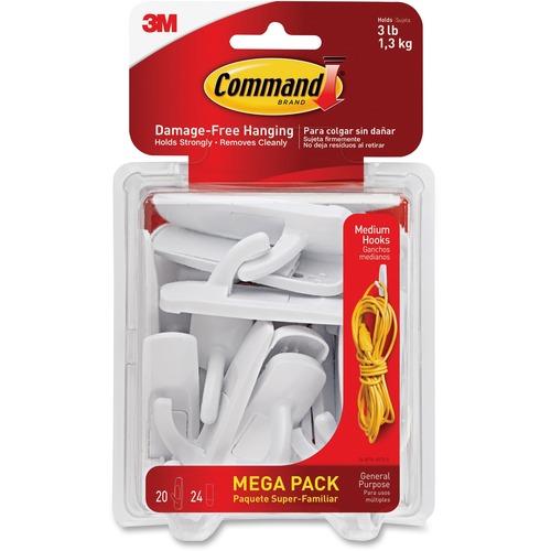 mmm 17001mpes 3m command damage free medium hooks mega pack mmm17001mpes. Black Bedroom Furniture Sets. Home Design Ideas