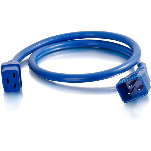 C2G 6ft 12AWG Power Cord (IEC320C20 to IEC320C19) | Blue