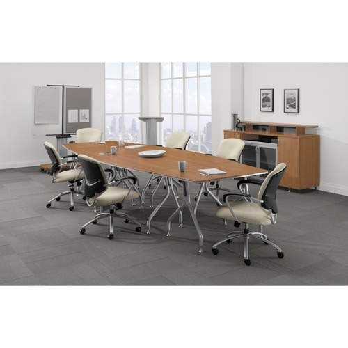 """Global Transformer Table Set - 13 and 15 Foot - 29"""" Height x 156"""" Width x 60"""" Depth - Winter Cherry"""