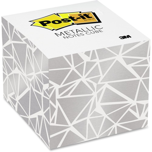 """Post-it® Adhesive Note - 2.63"""" x 2.63"""" - Square - White - 1 Each"""