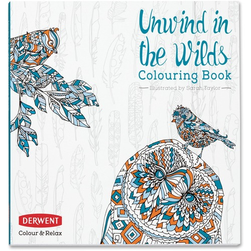 Derwent Colour and Relax: Unwind in the Wilds Colouring Book Printed Book - Book