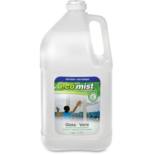 Eco Mist Solutions Glass Cleaner - Liquid - 127.8 fl oz (4 quart) - 1 Each