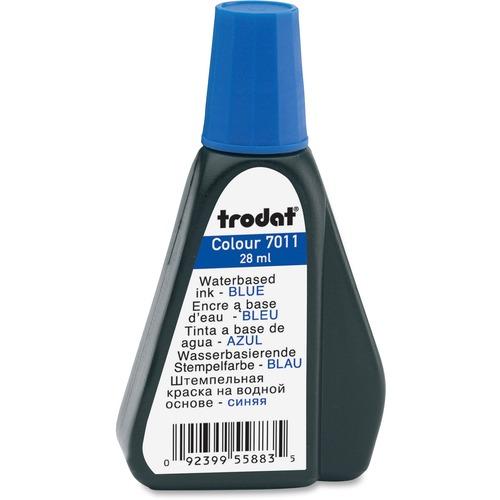 Trodat Stamp Pad Ink Refill - 1 Each - Blue Ink - 29.57 mL