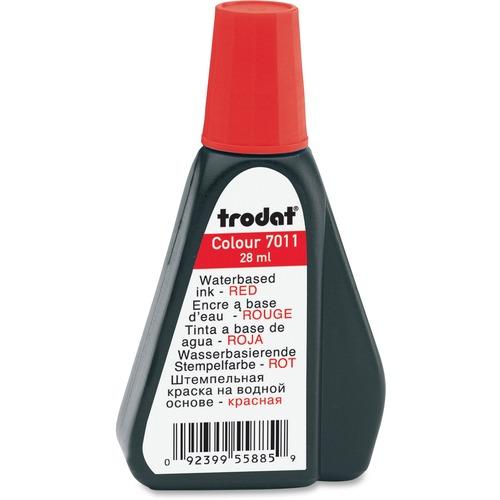 Trodat Stamp Pad Ink Refill - 1 Each - Red Ink - 29.57 mL