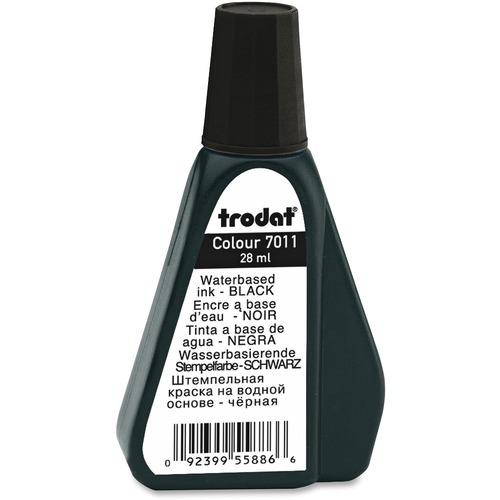 Trodat Stamp Pad Ink Refill - 1 Each - Black Ink - 29.57 mL