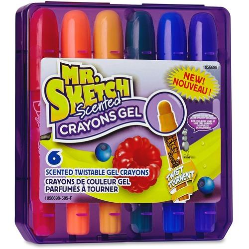 Mr. Sketch Scented Gel Crayons - Orange, Apple, Grape, Banana, Blueberry, Cherry - 6 / Pack
