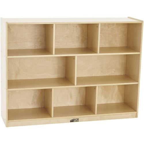 "ECR4KIDS Birch 36""H Storage Cabinet - 8 Compartments - 8 Compartment(s) - 36"" Height x 48"" Width x 13"" Depth - Natural - Birch - 1 Each"