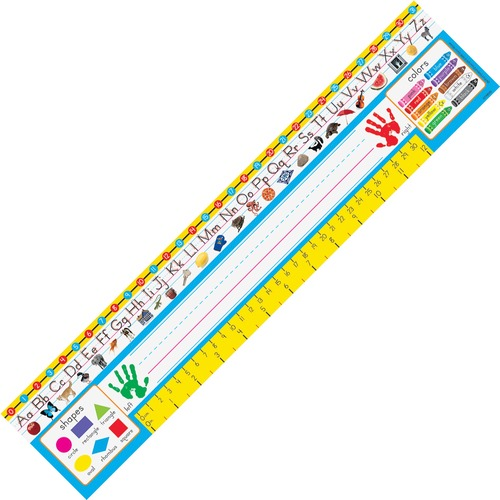 """Trend PreK-1 Desk Toppers Reference Name Plates - 3.75"""" (95.3 mm) Height x 18"""" (457.2 mm) Width x 16"""" (406.4 mm) Length - 36 / Pack"""