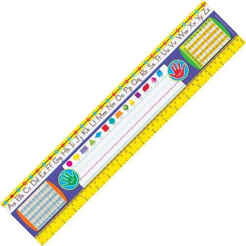 """Trend Gr 2-3 Desk Toppers Reference Name Plates - 3.75"""" (95.3 mm) Height x 18"""" (457.2 mm) Width x 16"""" (406.4 mm) Length - Multicolor - 36 / Pack"""