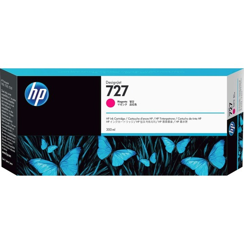 HP INC. - WIDE FORMAT INK 727 300ML MAGENTA INK CARTRIDGE