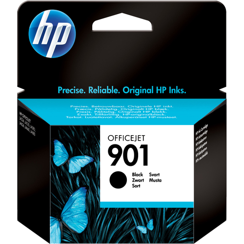 HP No. 901 Black Ink Cartridge, 200 page