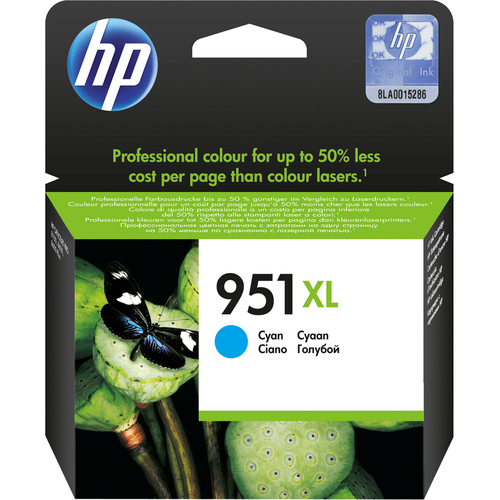HP 951XL Cyan Ink Cartridge - CN046AE#301