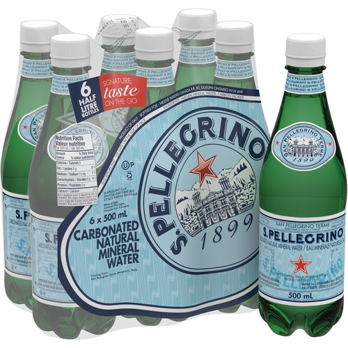 SanPellegrino Unflavored Water - 500mL - Bottle - 6 / Pack - 24 / Case