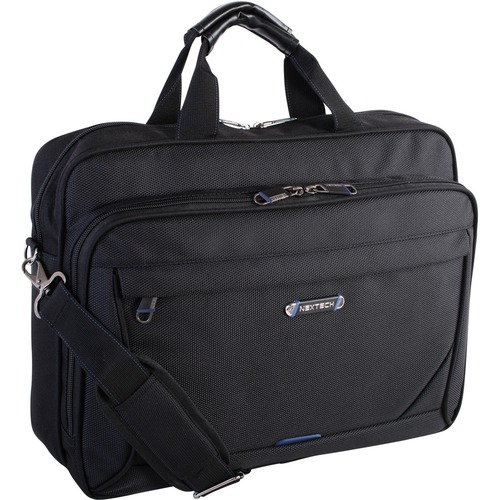 """Holiday Carrying Case (Messenger) for 15.6"""" Notebook - Black - Polytex - Handle, Shoulder Strap - 12"""" (304.80 mm) Height x 4.50"""" (114.30 mm) Width x 16"""" (406.40 mm) Depth - 1 Pack"""