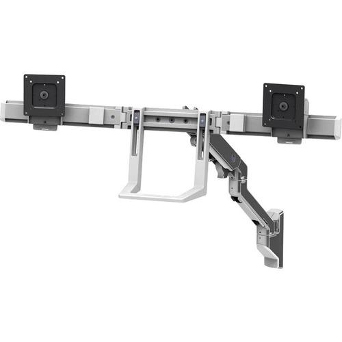 HX Wall Dual Monitor Arm Polished Aluminum