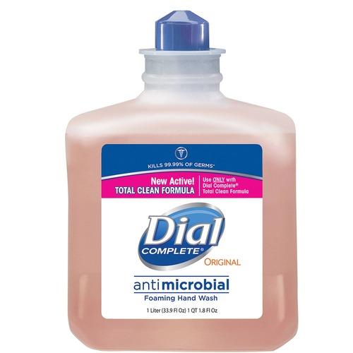Dial Complete Antibacterial Foam Handwash Refill - 33.8 fl oz (1000 mL) - Kill Germs - Hand, Skin - Orange - Rich Lather - 6 / Carton