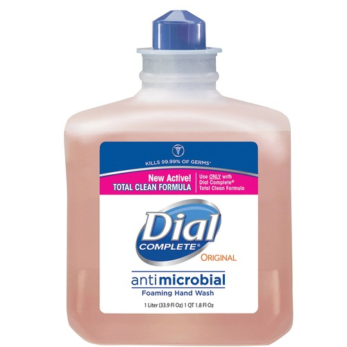 Dial Complete Antibacterial Foam Handwash Refill - 33.8 fl oz (1000 mL) - Kill Germs - Hand, Skin - Orange - Rich Lather - 1 Each