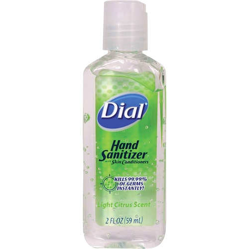 Dial Sanitizing Foam - Light Citrus Scent - 2 fl oz (59.1 mL) - Kill Germs, Bacteria Remover - Hand, Skin - Clear - Residue-free - 24 / Carton