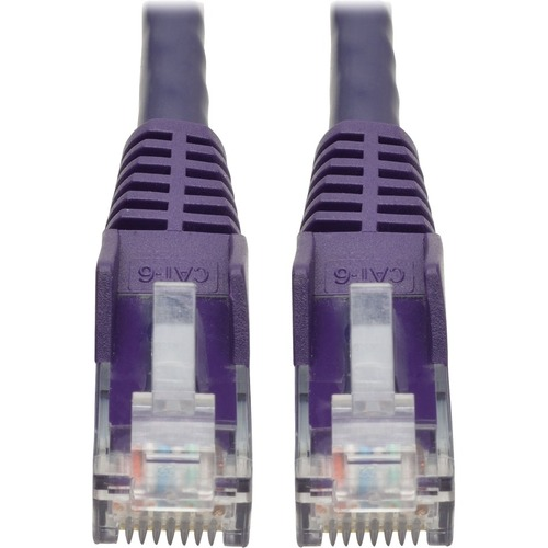 TRIPP LITE 2FT CAT6 PURPLE SNAGLESS MOLDED RJ45 TO RJ45 PATCH CABLE UTP