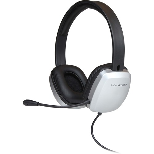 Cyber Acoustics AC-6010 Stereo Headset w/ Single Plug and Y-adapter