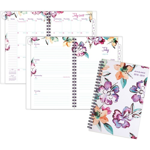At-A-Glance June Academic Weekly Monthly Planner - Medium Size - Academic - Julian Dates - Monthly, Weekly - 1 Year - July 2020 till June 2021 - 1 Wee