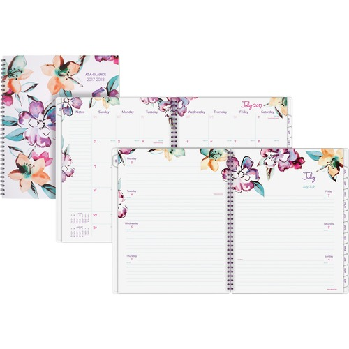 At-A-Glance June Academic Weekly Monthly Planner - Large Size - Academic - Julian Dates - Monthly, Weekly - 1 Year - July 2020 till June 2021 - 1 Week