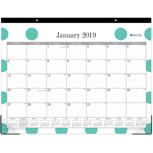 Blue Sky Penelope Ruled Daily Desk Pad Julian Monthly 1 Year