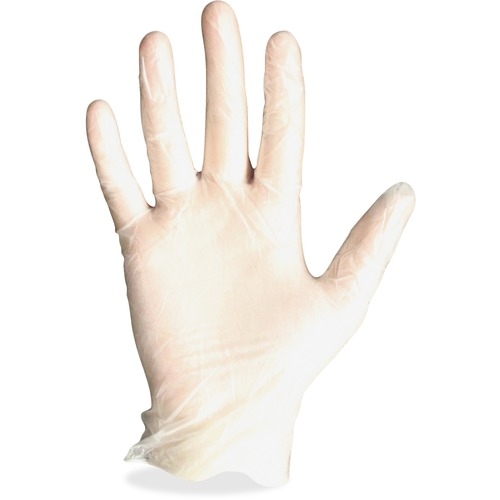 Protected Chef Vinyl General Purpose Gloves - Medium Size - Vinyl - Clear - Ambidextrous, Beaded Cuff, Disposable, Light Duty, Powder-free, Comfortable - For Manufacturing, Construction, Multipurpose, Assembling, Food, Cleaning, Painting - 1000 / Carton