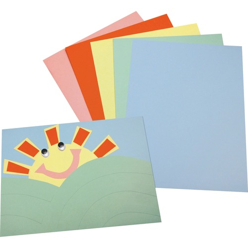 """Pacon Assorted Tagboard - Poster, Painting, Art - 12""""Height x 9""""Width - 100 / Pack - Assorted"""