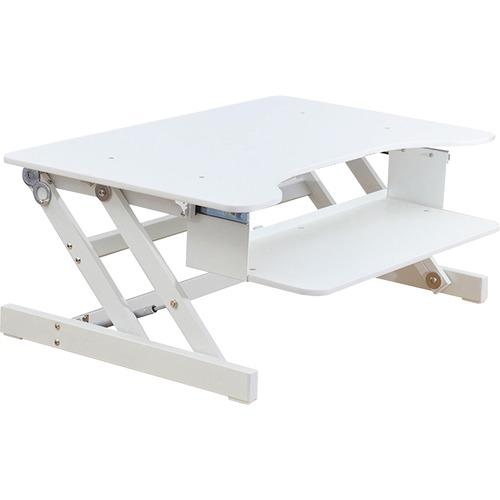 "Lorell Large Worksurface Adjustable Desk Riser - 16"" Height x 32"" Width x 21"" Depth - Desktop - White"