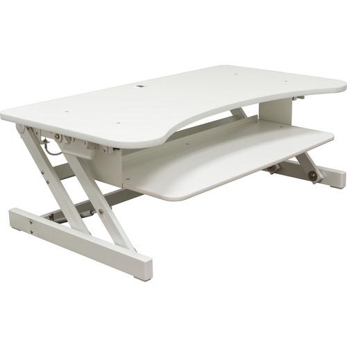 "Lorell Deluxe Adjustable Desk Riser - 20"" Height x 38"" Width x 20.5"" Depth - Desktop - White"
