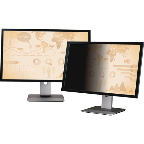 """3M Privacy Filter Black, Matte, Glossy - For 32"""" Widescreen Monitor - 16:9"""