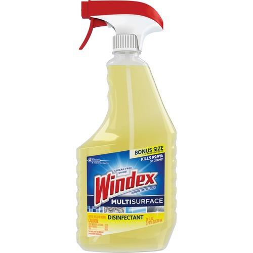 Windex® Multisurface Disinfectant Spray - Ready-To-Use Spray - 26 fl oz (0.8 quart) - 1 Each - Yellow