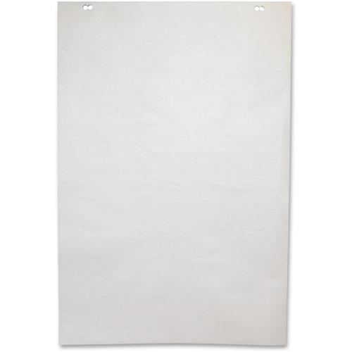 "NCR Paper 50-Sheet Newsprint Easel Pad - 50 Sheets - Plain - 2 Hole(s) - 24"" x 35 1/2"" - White Paper - Unruled - 5 / Carton"