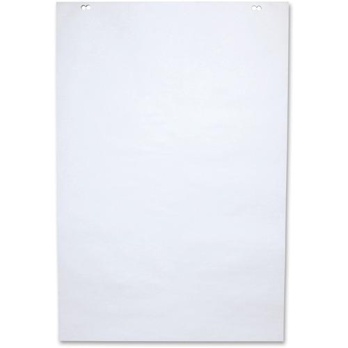 "NCR Paper 50-sheet Plain Bond Paper Easel Pad - 50 Sheets - Plain - 2 Hole(s) - 24"" x 35 1/2"" - White Paper - Unruled - 5 / Carton"