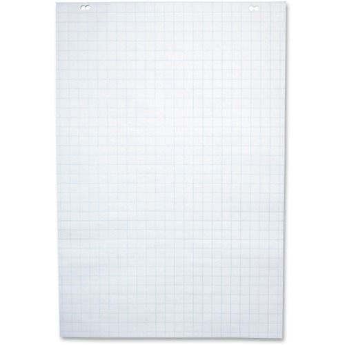 """NCR Paper 50-Sheet 1"""" Ruled Paper Easel Pad - 50 Sheets - 2 Hole(s) - 24"""" x 35 1/2"""" - White Paper - 5 / Carton"""
