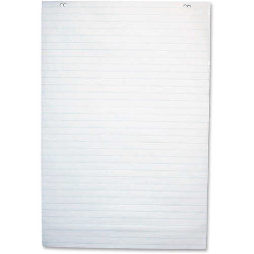 """NCR Paper 50-sheet 1"""" Ruled Paper Easel Pad - 50 Sheets - 2 Hole(s) - 24"""" x 35 1/2"""" - White Paper - 1Each"""