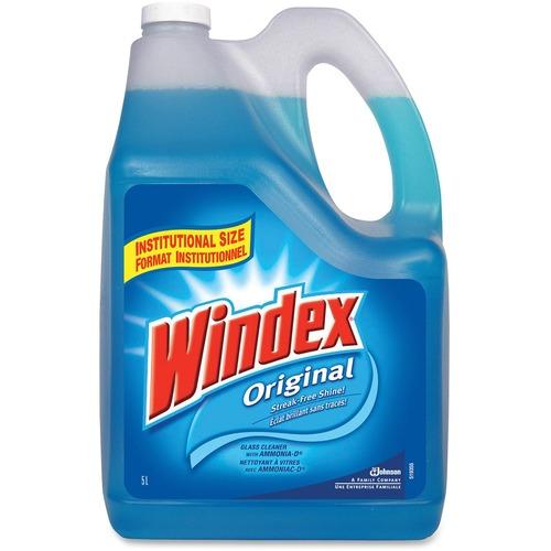 Windex® Glass & Multi-Surface Cleaner - Liquid - 169.1 fl oz (5.3 quart) - Bottle - 1 Each