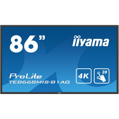 iiyama ProLite TE8668MIS-B1AG  85.6inch LCD Touchscreen Monitor - 16:9 - 8 ms