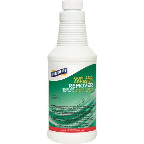 Genuine Joe Gum and Adhesive Remover - Ready-To-Use Gel - 16 fl oz (0.5 quart) - 1 Each - White