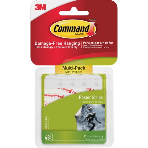 Command Poster Strips - Multi-Pack - 48 / Pack - White