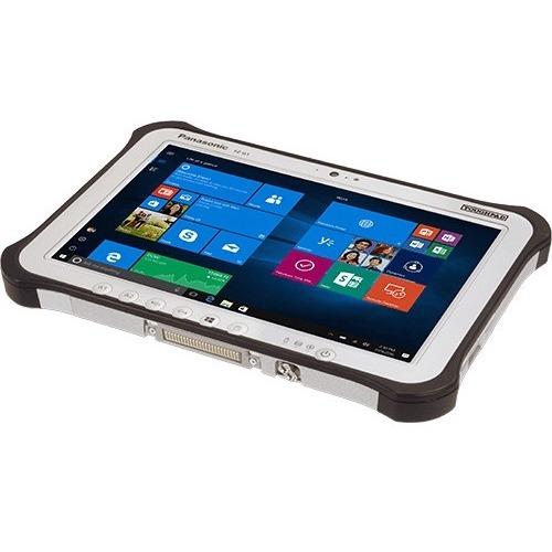 "Win7 (Win10 Pro COA), vPro, Intel Core i5-6300U 2.40GHz, 10.1"" WUXGA 10-pt Gloved Multi Touch+Digitizer, 256GB SSD, 8GB, Intel WiFi a/b/g/n/ac, TPM, Bluetooth, Dual Pass (Ch1:WWAN/Ch2:GPS), Insertable Smartcard, Bridge Battery, 4G LTE Multi Carrier (EM7355), Webcam, 8MP Cam, LAN, ANSI Haz Loc, Rotating Hand Strap, Tall Corner Guards, Toughbook Preferred"